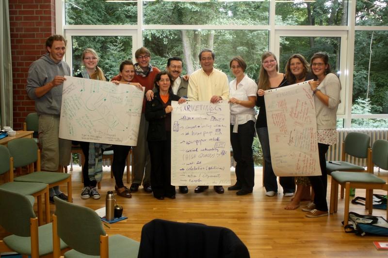 Jugendliche und Preisträger erarbeiten Projektkonzept, Bonn 2010